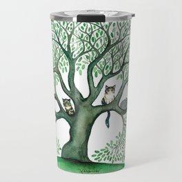 Cheri Whimsical Cats in Tree Travel Mug
