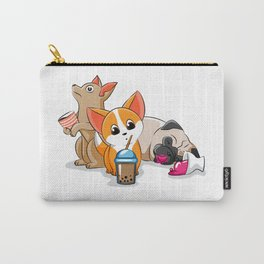 Dog coffee ice cream tea Corgi Pug Doggie Puppy Carry-All Pouch