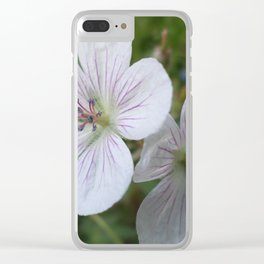 Flowers On The Mountain Clear iPhone Case