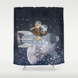 creating stars Shower Curtain