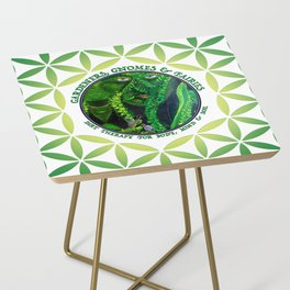Garden Guardian Gnome in Spring Greens Side Table