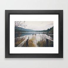 Dock - Fall Framed Art Print