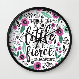 Little and Fierce Wall Clock