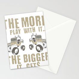 Mudding Off Roading Vehicle The More I Play with it the Bigger it Gets Stationery Cards