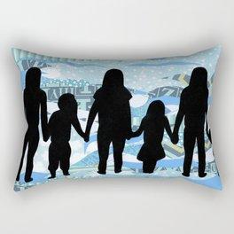Lake Silhouettes Rectangular Pillow