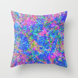 Floral Abstract Stained Glass G549 Throw Pillow