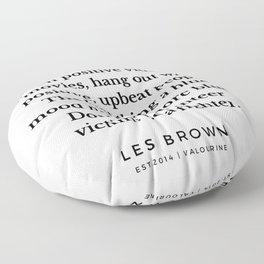 41  |  Les Brown  Quotes | 190824 Floor Pillow