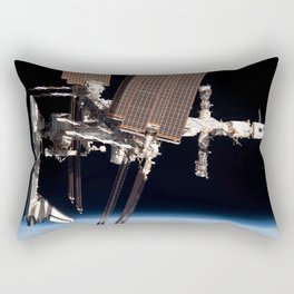Endeavour docked to ISS Rectangular Pillow