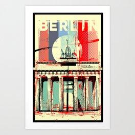 Berlin art Brandenburg Gate Art Print