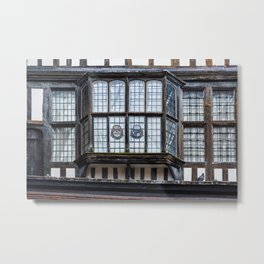 Bay Window at the Tower of London England Metal Print