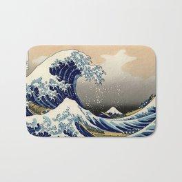 The Great Wave off Kanagawa Hokusai Bath Mat
