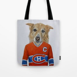 dog in sportwear Tote Bag