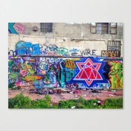 Tel Aviv Street Art Jewish Star Canvas Print