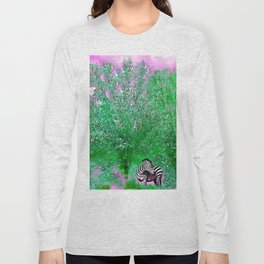 ZEBRA LOST AMONG THE TREES Long Sleeve T-shirt