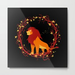 King of African Wilderness Metal Print