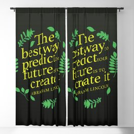 Abraham Lincoln famous quote Blackout Curtain
