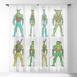 Superhero Butts - Turtles Sheer Curtain
