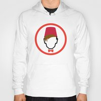 fez Hoodies featuring Man With Fez by Evan Ayres