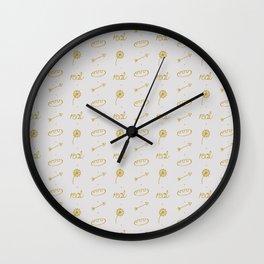 Everlark pattern Wall Clock