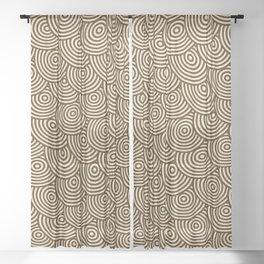 Abstract Spiral of Circles Sheer Curtain