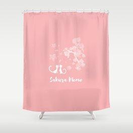Sakura Cats Shower Curtain