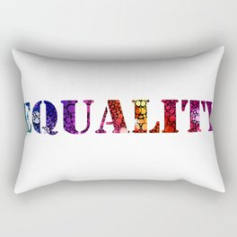 Equality For All 3 - Stone Rock'd Art By Sharon Cummings Rectangular Pillow