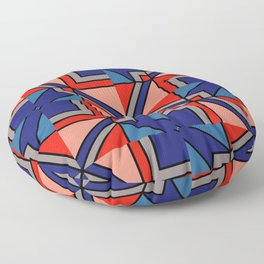 Geometric patterns in the trending colors Floor Pillow