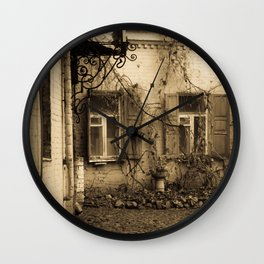 quiet courtyard Wall Clock