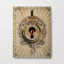 Muggle Worthy Lock Metal Print