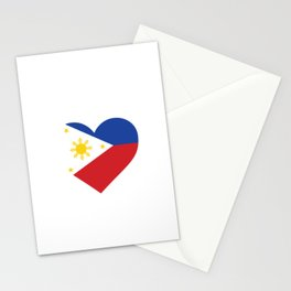 Philippines  love flag heart designs  Stationery Cards