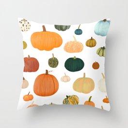 Pumpkin Patch Season Throw Pillow