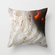 Flaming Seashell 2 Throw Pillow
