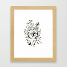 Not all those who wander are lost print Framed Art Print