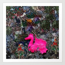 Dragon in paradise Art Print