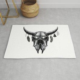 Big bull skull Rug