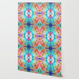 Rainbow Sunburst Wallpaper