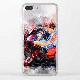 Jorge Lorenzo Clear iPhone Case