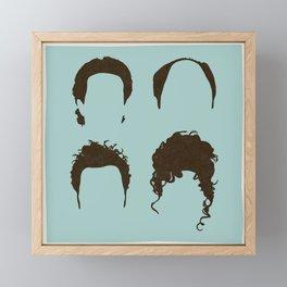 Seinfeld Hair Square Framed Mini Art Print