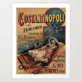 Constantinople Italian vintage book advertisement Art Print