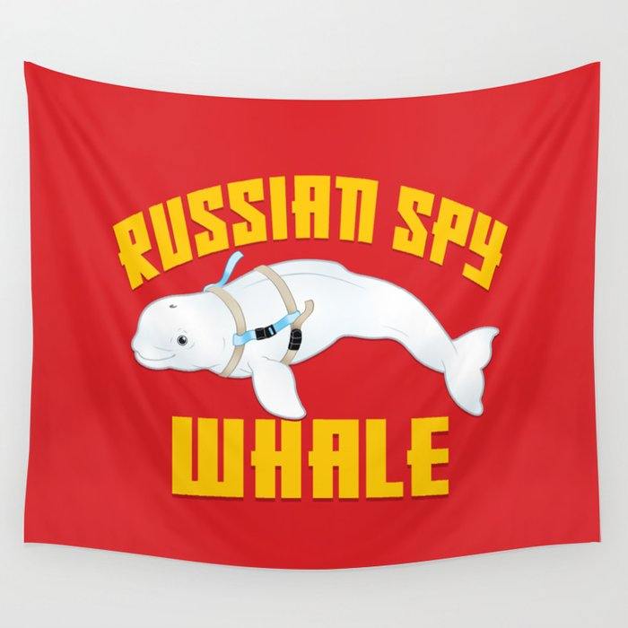 Russian Spy Whale Wall Tapestry