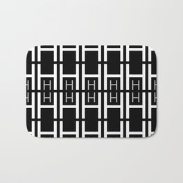 H (Black Background) Bath Mat