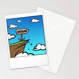 Socialism off a Cliff Stationery Cards