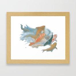 koi {white} Framed Art Print