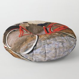 The Red Bicycle Floor Pillow