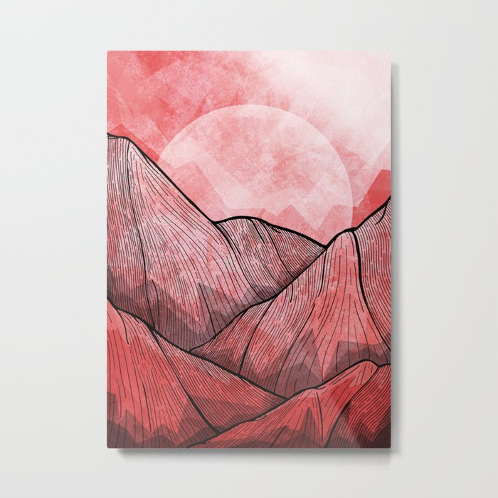 The Red Mountains Metal Print