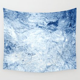 Winter snow Marble Wall Tapestry