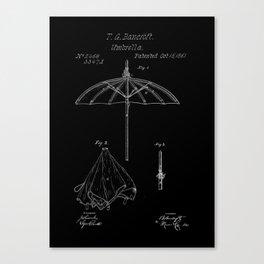 patent umbrela Canvas Print