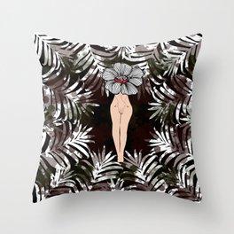 Tropical Women Throw Pillow