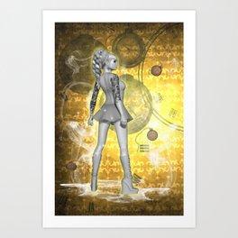 Whispers in Time .. fantasy art Art Print
