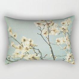 Magnolia blossoms. Mint Rectangular Pillow